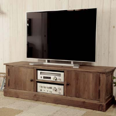古材を使用したテレビボードです