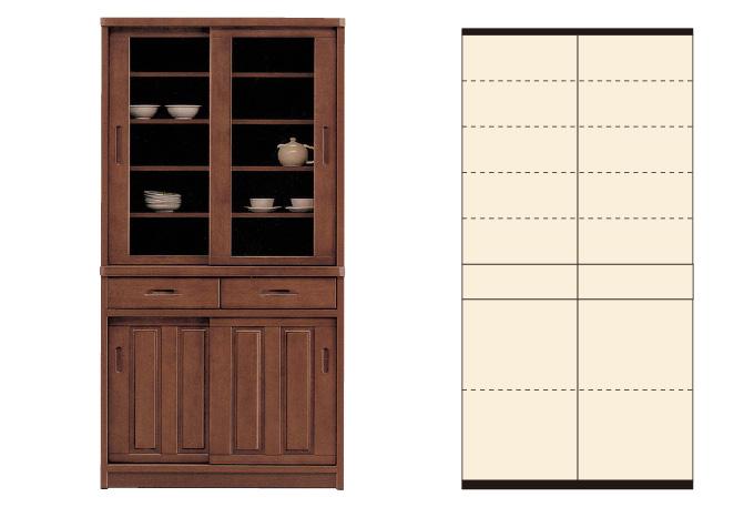 食器棚90BR