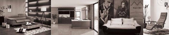 家具ショー白黒イメージ